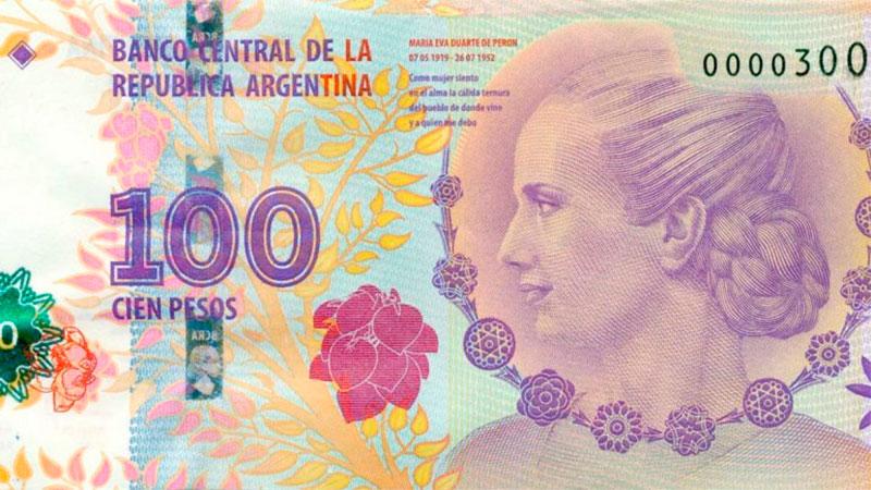 Evita seguirá en los $100