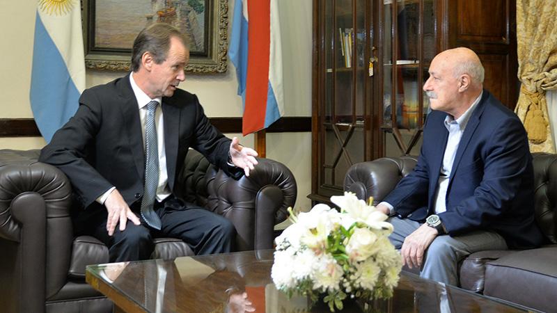 El Gobernador junto a Ciácera en una de sus tantas visitas a Entre Ríos