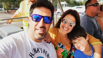 La paranaense Maju Lozano de vacaciones con su hijo y su exmarido