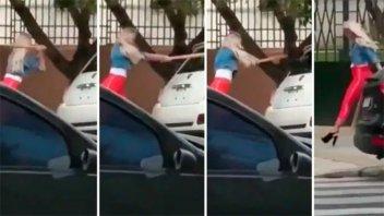 El video de Sol Pérez rompiendo un auto: La joven salió a dar explicaciones