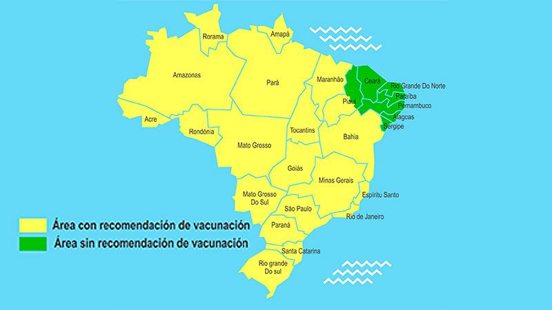 Zonas de Brasil con riesgo