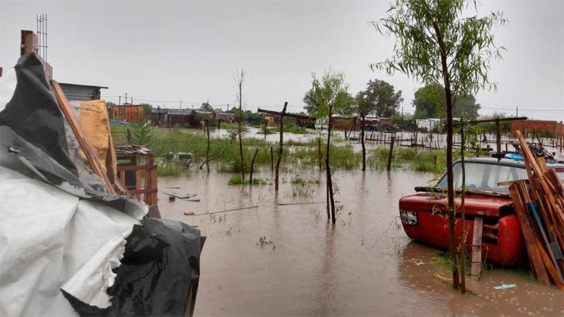Anegamientos en Gualeguay.