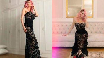 Vicky Xipolitakis estrenó nuevo look y lo lució con transparencias
