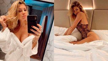 Stephanie Demner cautivó con su increíble bikini roja: