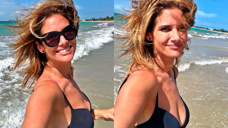 Alessandra Rampolla mostró fotos suyas en la playa y la llenaron ...