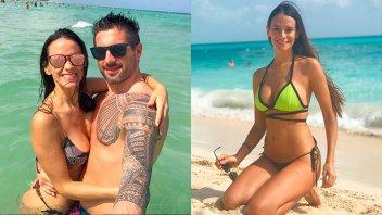 Las vacaciones de Evangelina Carrozzo con su novio: Sol, mar y lomazos
