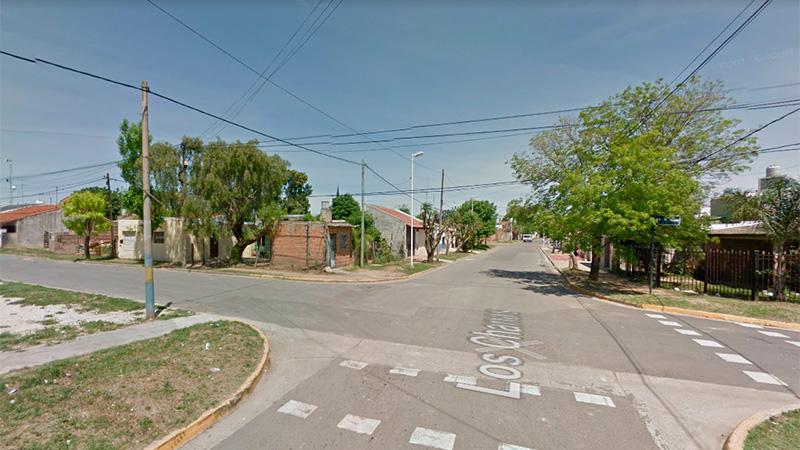 La zona de calle Sosula y Los Chanas, donde ocurrió el supuesto accidente.-