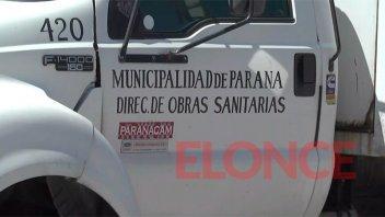 Una zona de Paraná permanecerá sin agua potable por reparaciones en una cañería