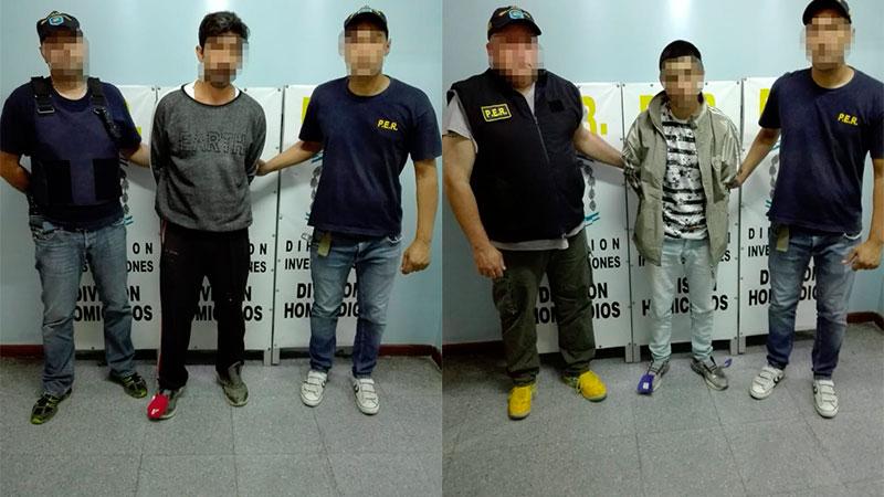 Dos de los detenidos en el marco de los allanamientos