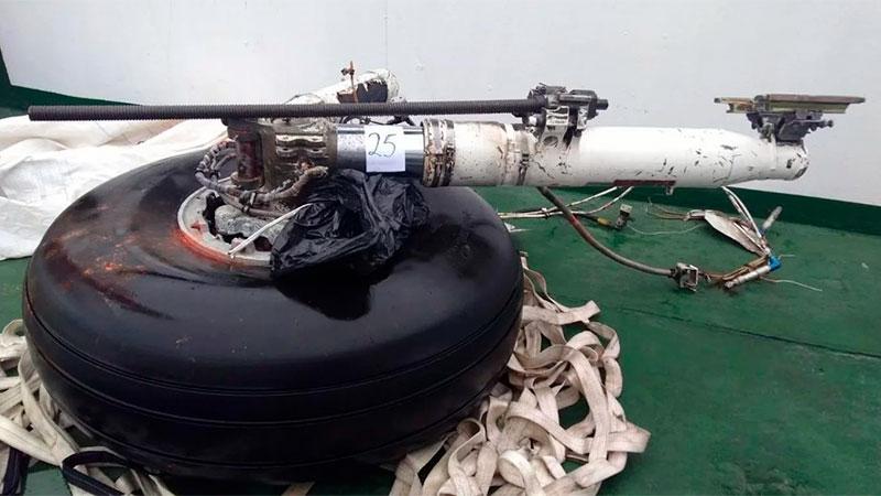 Parte del tren de aterrizaje encontrado en el mar de Drake