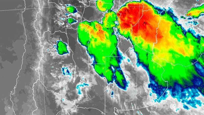 Imagen satelital de las 22.10