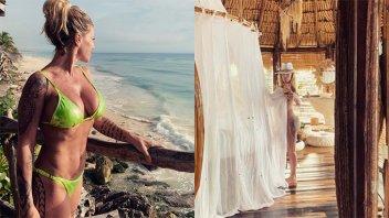 De vacaciones y al desnudo: Florencia Peña volvió a deslumbrar con sus fotos