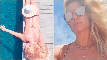 La foto al desnudo de Nicole Neumann, tapada con un sombrero