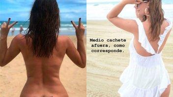 El desnudo total y otras fotos de Griselda Siciliani en la playa