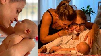 La emotiva foto de Eugenia Tobal con su mamá y su hija