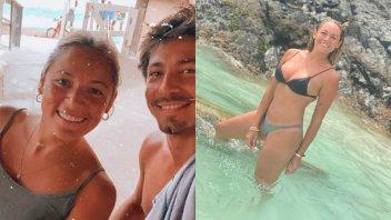 Rocío Oliva se mostró sensual en la playa y presentó a su novio