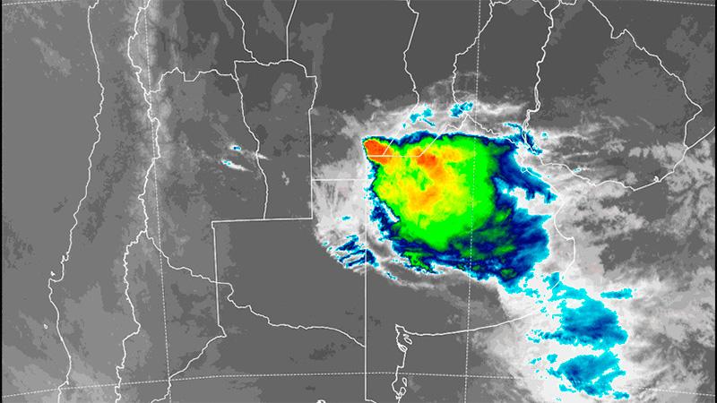 Imagen satelital de las 7.30