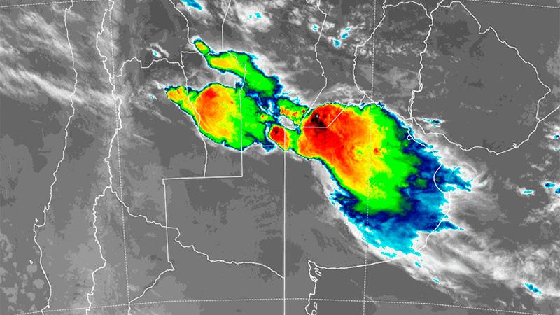 Imagen satelital de las 3.40