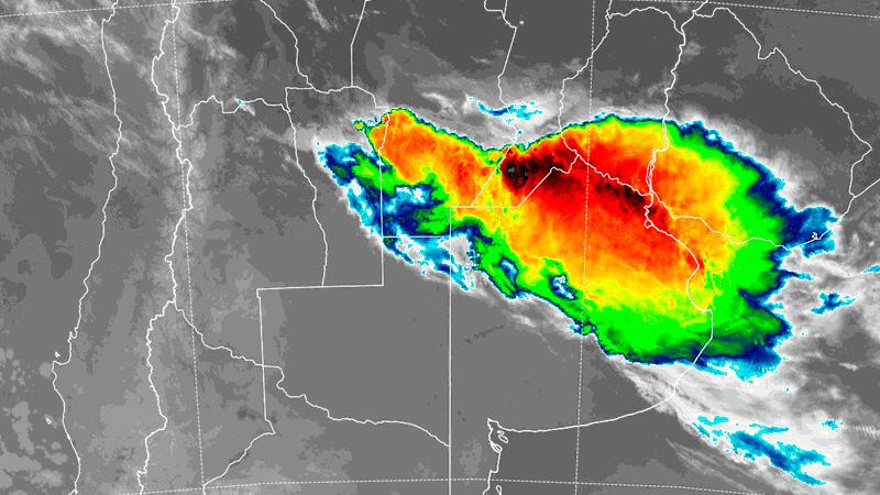 Imagen satelital de las 6.15