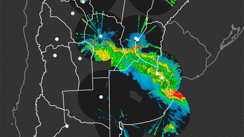 Imagen de radar de las 7.40