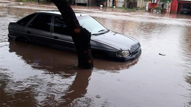Diluvio en el centro de Entre Ríos: Imágenes de los anegamientos en Villaguay