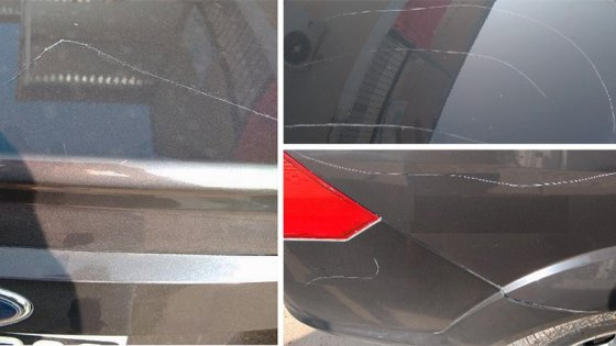 Rayó el auto a su ex y mordió al hombre cuando quiso evitar más daños