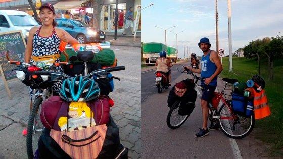 Vacaciones en dos ruedas: Entrerrianos viajaron a Brasil en bicicleta