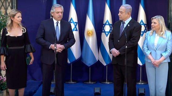 Fernández se reunió con Netanyahu y realizaron una declaración conjunta