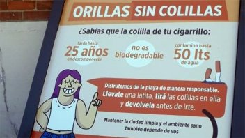 Gualeguaychú inicia campaña para recolectar colillas de cigarrillos en playas
