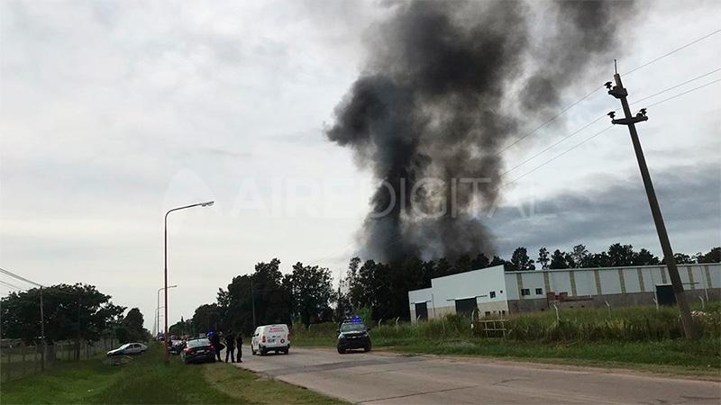 Gran explosión en una fábrica santafesina