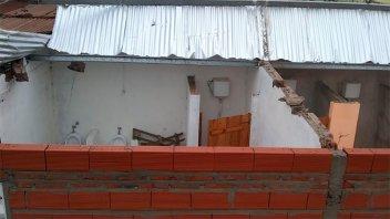 El temporal de lluvia y viento provocó destrozos en localidades entrerrianas