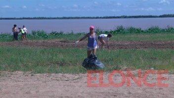 Hallaron gran cantidad de plásticos en jornada de limpieza del río Paraná