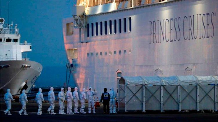 Detectaron 70 nuevos casos de coronavirus en el crucero en cuarentena en Japón