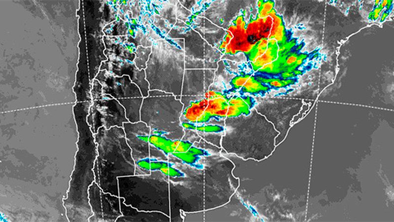 Alerta por tormentas fuertes para Entre Ríos y siete provincias