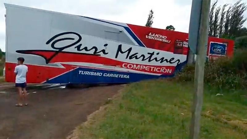 Despistó un camión del Gurí Martínez Competición cuando regresaba de Viedma