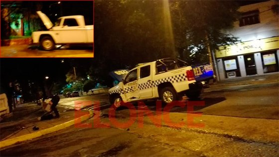 Un policía herido tras el choque entre un patrullero y una camioneta