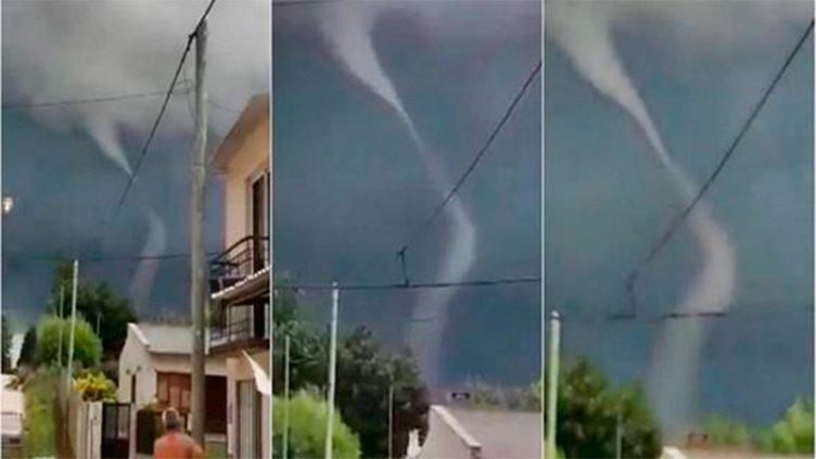 Video: Grabaron la formación de un tornado en una ciudad entrerriana