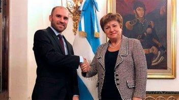 El ministro Guzmán agradeció el mensaje de apoyo del FMI