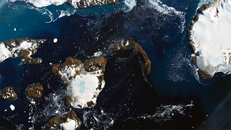 La NASA compartió imágenes impactantes sobre el derretimiento de la Antártida