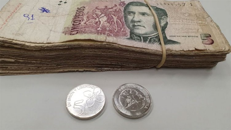 Los billetes de 5 pesos llegan a su fin: Última semana para usarlos