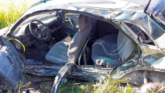 Dos automóviles chocaron en la ruta: Un hombre está internado en terapia