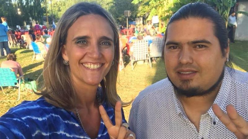 Aramburu y Pablo Fernández, concejal del oficialismo y referente de La Cámpora
