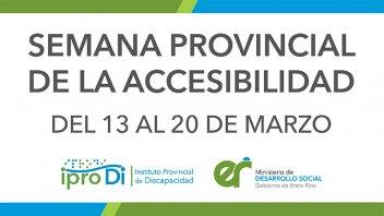 Con diversas actividades comienza la Semana Provincial de la Accesibilidad