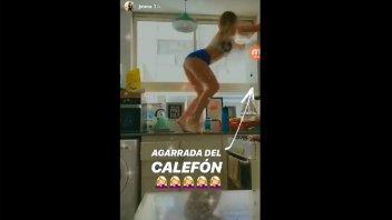 En cuarentena, Jimena Barón bailó