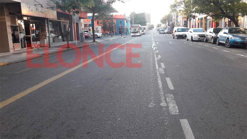 Calle Gualeguaychú, a las 7.30.