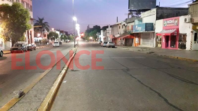 Avenida Ramírez de Paraná a las 6.45