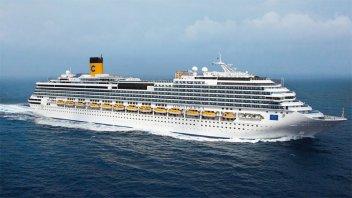 Argentinos a bordo de un crucero ahora viajan rumbo a Italia