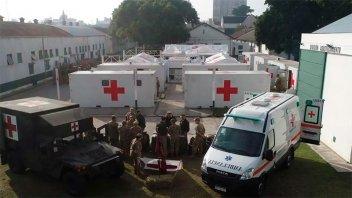 El Ejército comenzó a montar un hospital de campaña en Campo de Mayo