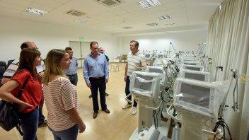 Bordet recorrió el hospital de La Baxada que se activará por el coronavirus