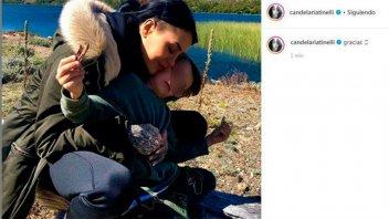 Cuarentena en Esquel: Cande Tinelli publicó una foto y luego la borró